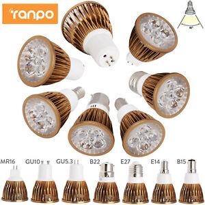 Projecteur à LED dimmable ampoules GU10 MR16 E27 E14 GU5.3 B22 B15 220V 12V lamp