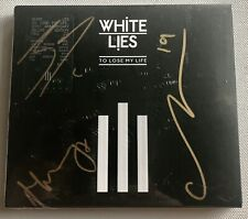 WHITE LIES - TO LOSE MY LIFE 10TH ANN SIGNED CD AUTOGRAPHED SEALED