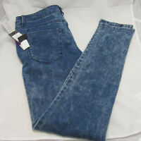 NWT MOSSIMO Mid Rise Acid Wash Destructed Skinny Stretch Women's Jeans Sz 10/28