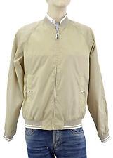 $665 PRADA Beige Gold BOMBER Mens Rainproof Jacket Size L NEW COLLECTION