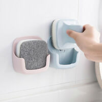 NE_ CO_ Cleaning Handle Brush Sponge Dish Plate Pan Scrubber Wall Mounted Holder