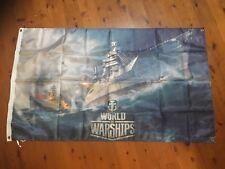 Battleship sea battle us navy ww2 USA Air Force man cave flag shed poster Print