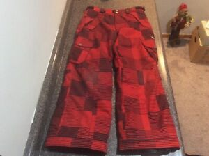 686 Ridge Youth Boys Size XL Insulated Snowboard Snow Ski Winter Pants RED