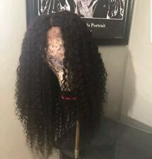 10A grade 100% virgin Brazilian deep curly human hair wig with lace closure....