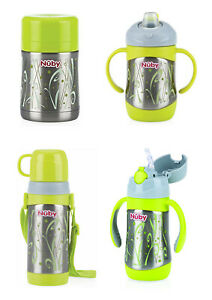 Nuby Stainless Steel Flasks & Food Containers - Childrens Bottles - Baby Bottles