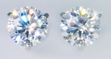 6 ct tw Martini Earrings Top CZ Moissanite Simulant Screwbacks S.925
