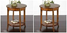 """Two New 22"""" Solid Wood Barn Finish Aged Veneer End Table Vintage Modern Style"""