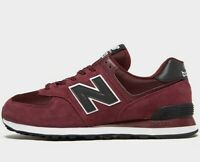 ⚫2019 New Balance 574  Suede Leather ® ( Sizes UK 8  9 11 12.5 ) Burgundy Maroon