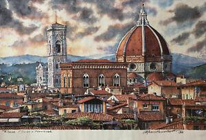 "Florence Italy The Duomo ""Cathedral Of Santa Maria"" Art Print Marco Ramazzotti"