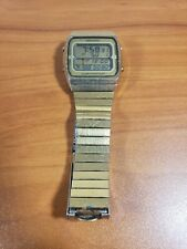 Seiko Running Man Alarm Chronograph A714-5050 SS Men's Digital Led Watch RARE!