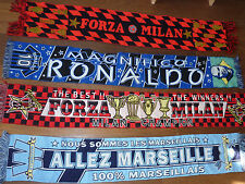 4 ECHARPE de FOOT ITALIE FORZA MILAN ac milano italia FOOTBALL marseille RONALDO