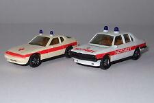 HERPA Konvolut 2 x Notarzt 4060 Porsche 924 4061 BMW 528i neuwertig 1:87 H0
