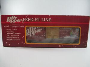 Dr. Pepper Freight Line 0/0027 Gauge Train Box Car Die Cast Wheels 1994