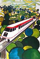 L AEROTRAIN DE BERTIN  TGV  1970 FRANCE   FEUILLET PHILATÉLIQUE CEF 125