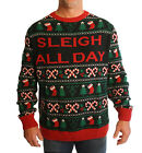Ugly Christmas Sweater Men's Big And Tall Sleigh All Day LED Light Up