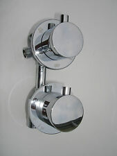 4 WAY THERMOSTATIC SHOWER DIVERTER MIXER TAP VALVE,  ALL METAL & CHROME, 344N