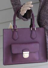 NWT~Michael Kors Saffiano Leather Bridgette Medium EW Tote Bag in Plum