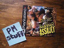 Version française du livret (booklet) du jeu PSOne WCW Backstage Assault