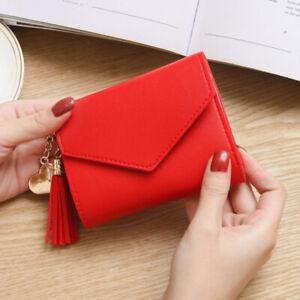 Mini Short Women Purse Wallet Card Coin Holder Organizer Tassel Wallet Handbag