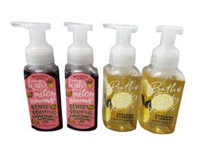 Bath & Body Works Sunshine Lemons Watermelon Lemonade Foam Hand Soap, (Set of 4)