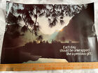 """Vintage Argus Motivational Poster; 1980's; """"Each Day Should Be"""" Scenic; 14 x 21"""""""
