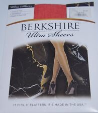 Berkshire Hosiery Ultra Sheers Sz 2 Red Control Top Sandalfoot Style 4415