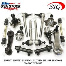 14pcs JPN Tie Rods Sway Bar Link Ball Joint For Chevy K1500 Suburban 1995-1999
