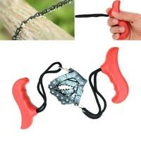 Outdoor Survival Pocket Chain Saw Hand Chainsaw Camping Kits Emergency W1Q5