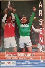 Arsenal Makita COPPA V Chelsea Paolo MADRID NAPOLI CALCIO programma 1994