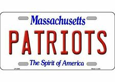NFL ~ NEW ENGLAND PATRIOTS ~ METAL LICENSE PLATE ~ SIGN / WALL DISPLAY