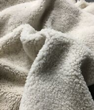 Spanish Lambskin Leather Hair On Pelt Hide Shearling SOFT Curly Off White 5 SF