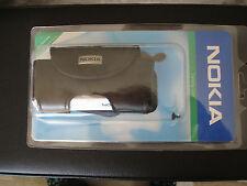 Cover e custodie nera in pelle Nokia per cellulari e palmari