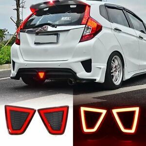 For Honda Fit Jazz 2014-2017 LED Rear Bumper Lamp Tail Light with Brake Signal