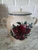 "Home And Garden Party 8"" Canister Stoneware Pottery Apple 2005"