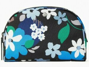 Kate Spade Jae Black Floral Medium Dome Cosmetic Case Pouch WLR00501 NWT $79 FS
