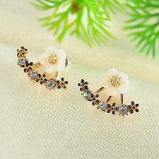UK Women Elegant Crystal Rhinestone Ear Stud  Flower Earrings Fashion Jewelry