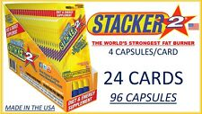 STACKER2  STACKER 2 STRONGEST FAT BURNER + X ENERGY 4ct x 24 Cards (96 Capsules)