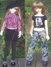 "Sewing Pattern SD 60cm 23""BJD Doll  pants,skirt, Bert,jacket thigh high Stocking"