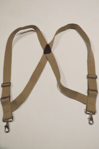 "1 1/2"" & 2"" Side Grip SUSPENDERS Stainless Steel Loop SNAPS, CLIPS MADE IN USA"