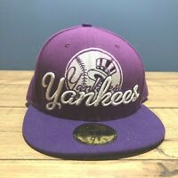 afff351c82101 Free shipping. Almost gone. New Era 59Fifty Hat Mens MLB New York Yankees  Purple Fitted 7-3 8