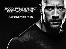 DWAYNE JOHNSON THE ROCK  INSPIRATIONAL QUOTE A3 260GSM POSTER PRINT PICTURE
