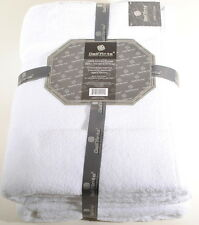 "White Bath Sheet Set of 2 100% India Cotton 32""x64""  Dell'Arte Luxury"