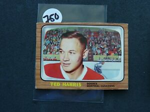 VINTAGE HOCKEY CARD  topps 1966 MONTREAL CANADIEN  TED HARRIS  NO750