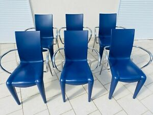 """Superb Rare Suite of 6 Vitra """"Louis 20"""" Chairs in Purple by Philippe Starck"""