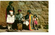 Zuni Native American Indian Silversmith & Family-Jewelry Craft-Vintage Postcard