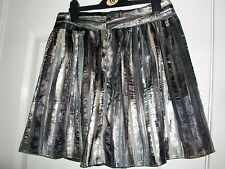 Mini skirt by H&M, size 12, shades of brown & grey with gold sparkle, new-tagged