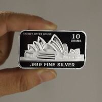Sydney Opera House / 10 Grams .999 Fine Silver Art Bullion Bar / oz TSB040 - 1