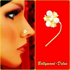 Bollywood STRASS nasale spina nasale Piercing indiene thnik Nose Pin MODEL n-28