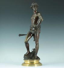 Adrien Etienne GAUDEZ (1845-1902) David Bronze Skulptur 1890 Statue Sculpture