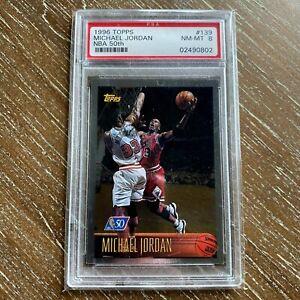 1996 Topps NBA 50th 139 Michael Jordan PSA 8 NM-MT